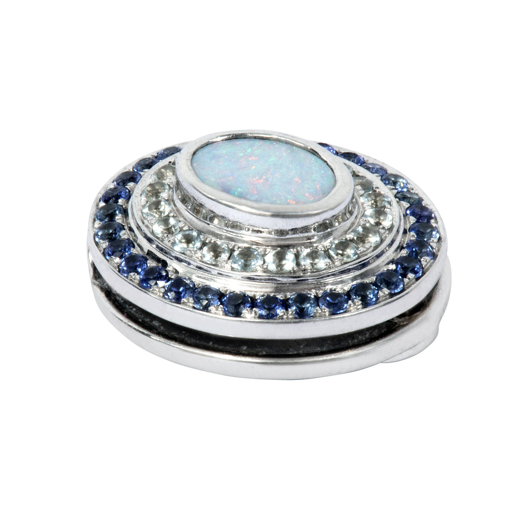 The Alice Blue Opal, Aquamarine and Blue Sapphire Eclipse