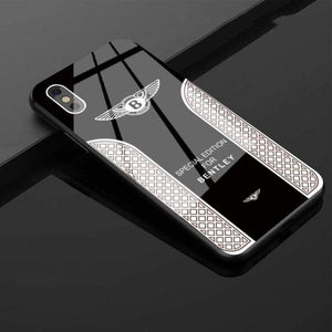 Mercedes-Benz Logo Anti-Drop Glass Phone Case For iPhone(buy 3 get free shipping)