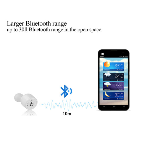 Wireless Bluetooth Ear Pods / Headphones - iOS & Android