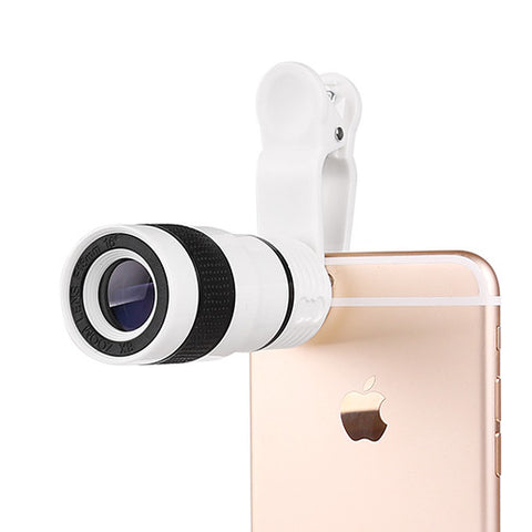 8X Zoom Phone Telescope Phone Lens with Clip for iPhone Samsung HTC Other Mobile Phones