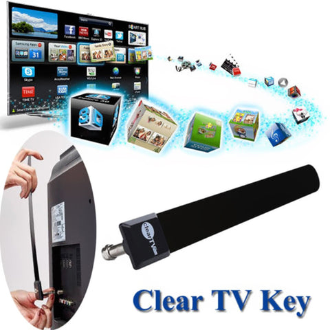 US EU Clear TV Key HDTV FREE Digital Indoor Antenna Ditch Cable As Seen on TV