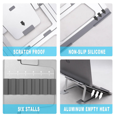 Foldeable Aluminum Stand for Notebooks & Laptops