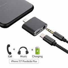 Headphone and Charger Splitter for iPhone