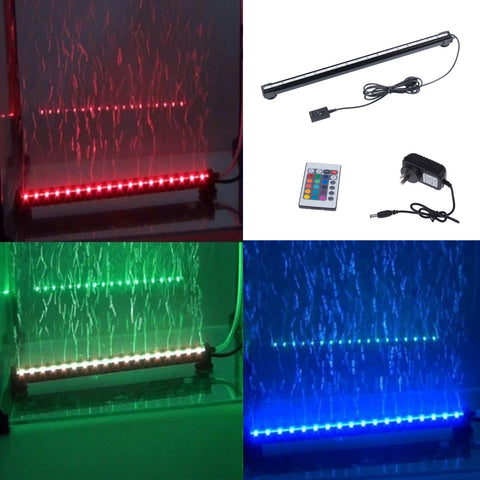 46CM Waterproof Aquarium Fish Tank LED Light Bar Lamps Submersible with Remote Control EU Plug
