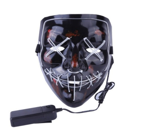 LED Face Mask The Purge Cosplay Halloween