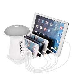 Mushroom 5 Port USB Charging Station Dock