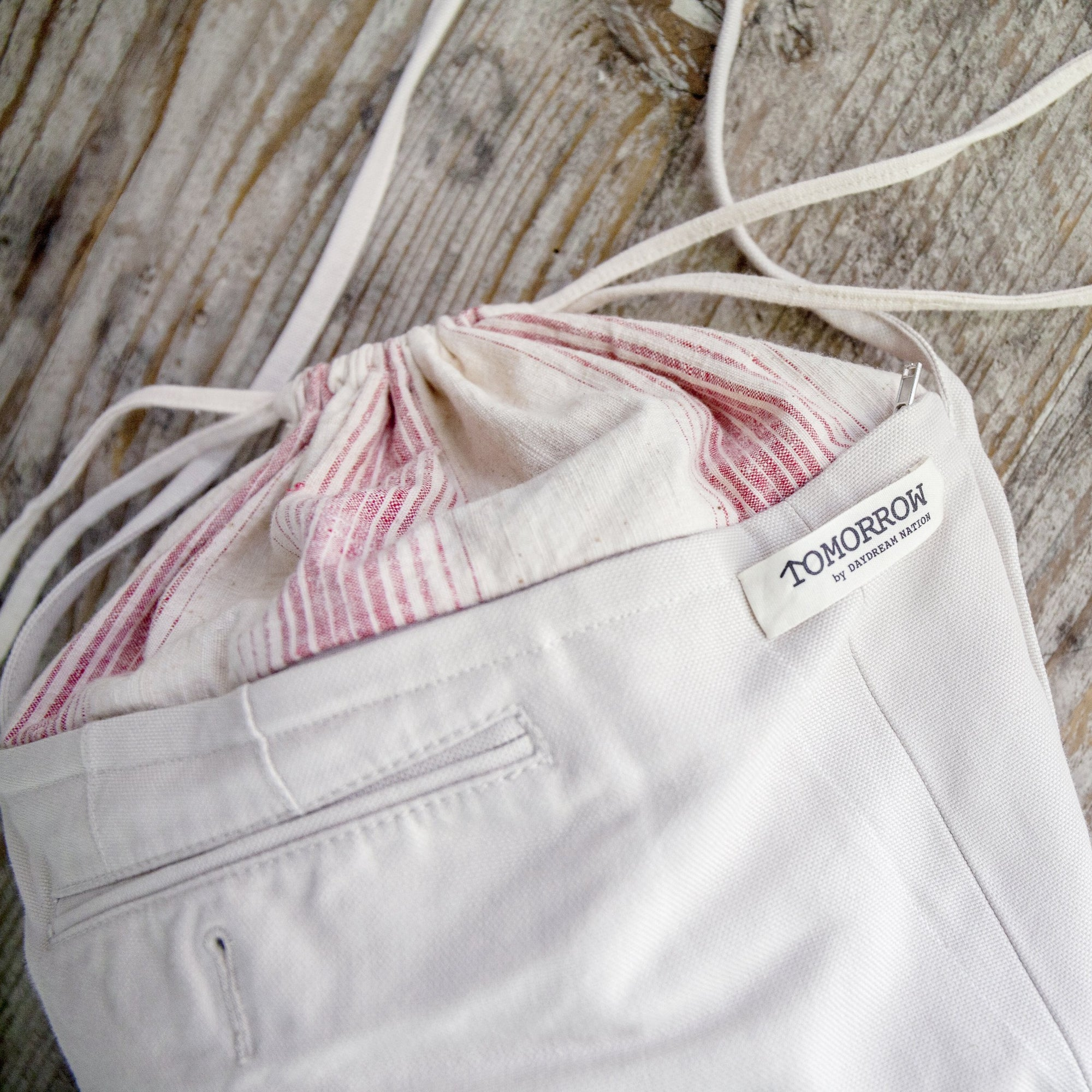 Jouer x TOMORROW by Daydream Nation Upcycled Drawstring Bag