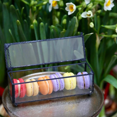 February Flavours Macaron Set in Glass Box (6pc)
