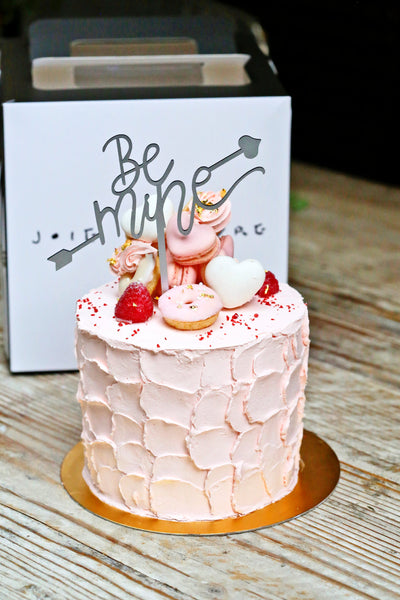 'Be Mine' with Cupid Arrow Cake Topper