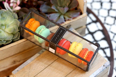 Jouer Spicy Summer Macaron Set in Glass Box (12pc)