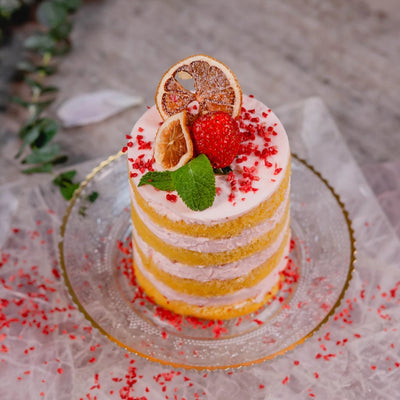 Baby Strawberry Lemonade Cake Set for Two