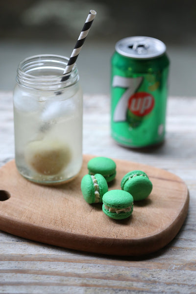 Salted Lime 7-Up Macarons