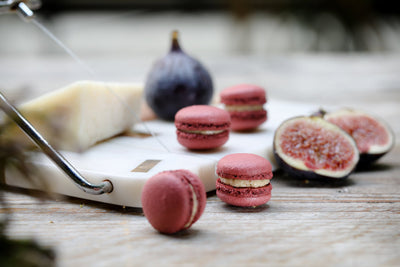 Jouer Fig Jam, Port and Pecorino Flavoured Macaron