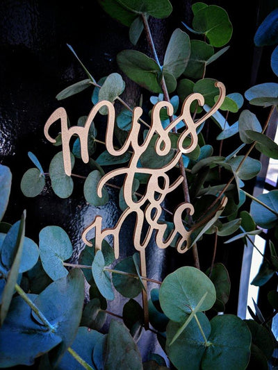 'Miss to Mrs' Cake Topper