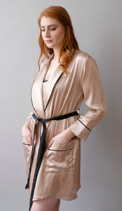 Pink Lady Collection - Silk Pink Robe
