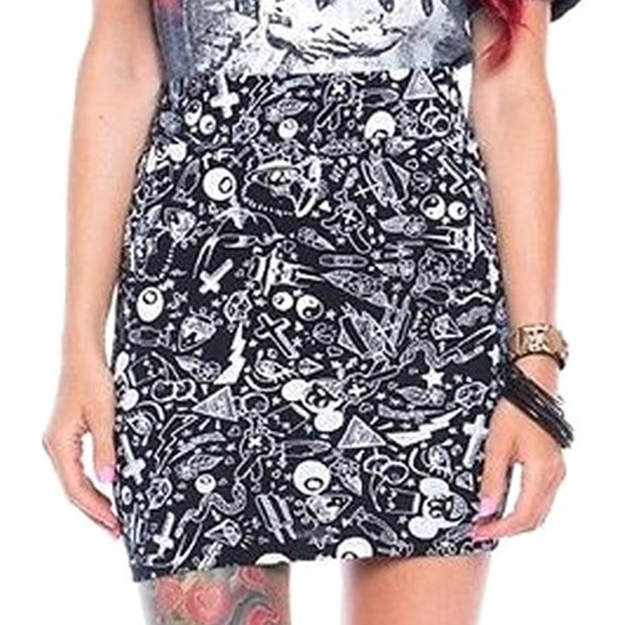 Iron Fist Womens Black Cotton Taggers Mini Skirt