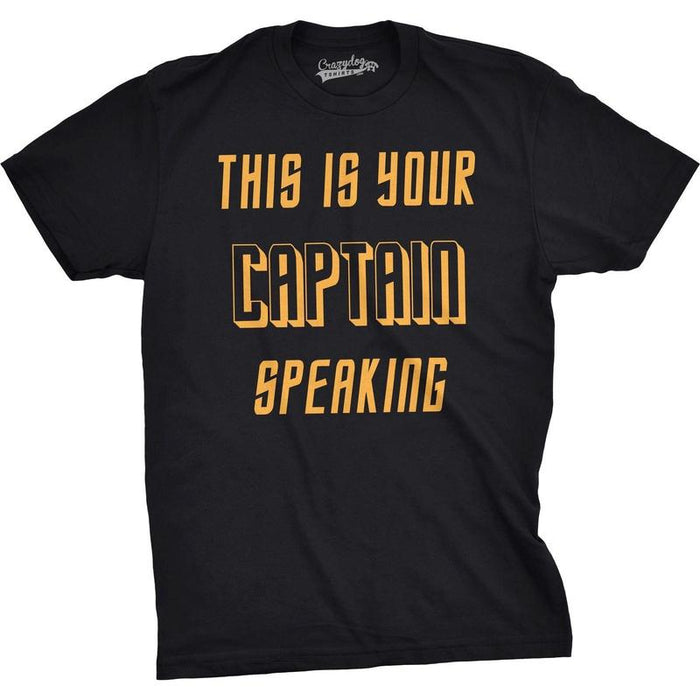 Star Trek Captain Speaking Mens T-Shirt