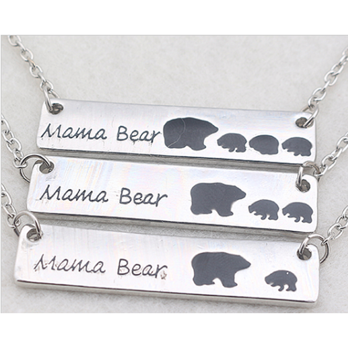 Mama Bear & Cubs Necklaces