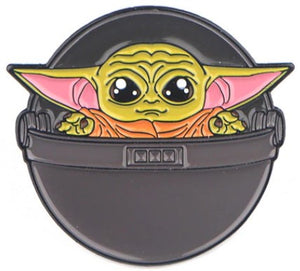 Enamelled Brooch/Pin - Baby Yoda in Egg