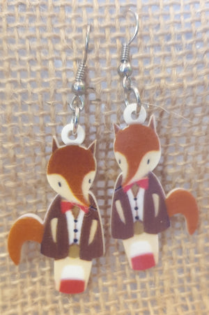 Fox - Acrylic Hook Earrings