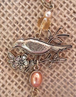 Copper Tones NZ Made Bird Necklace