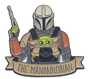Mandadlorian - Mando & Child Enamel Pin/Brooch