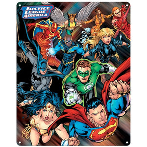 A3 Justice League Tin Sign