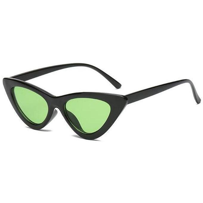 Sunglasses - Catseye Black & Green