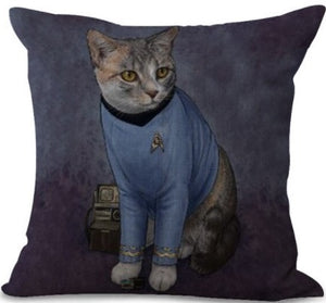 Cat Spock Star Trek - Cushion