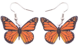 Monarch Butterflies - Acrylic Hook Earrings