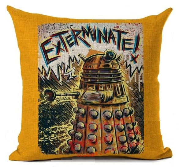 Cushion - Doctor Who Exterminate Dalek (Mustard)