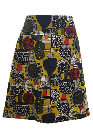 PR Original - Japanese Shrooms Zip Skirt