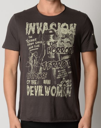Mens Sci Fi/Horror Montage Tee