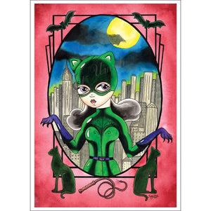 Catwoman Framed A4 Jubly Umph Art Print