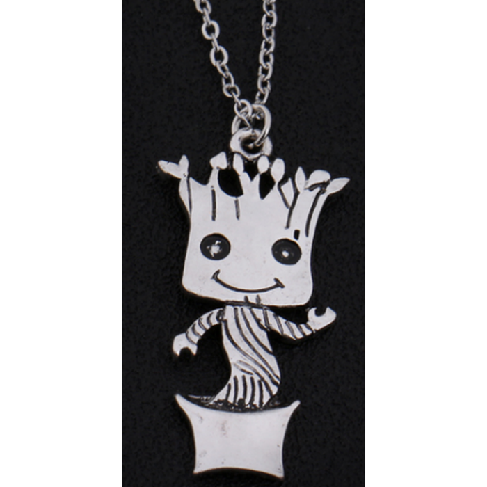 Baby Groot Silver Necklace
