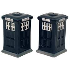 Police Box Ceramic Salt & Pepper Shakers