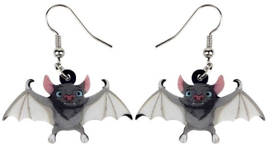Bat Babies - Acrylic Hook Earrings