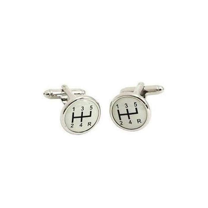 Cufflinks - Auto - Domed Gear Shift
