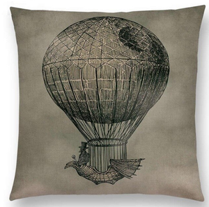 Cushion - Steampunk Death Star Balloon