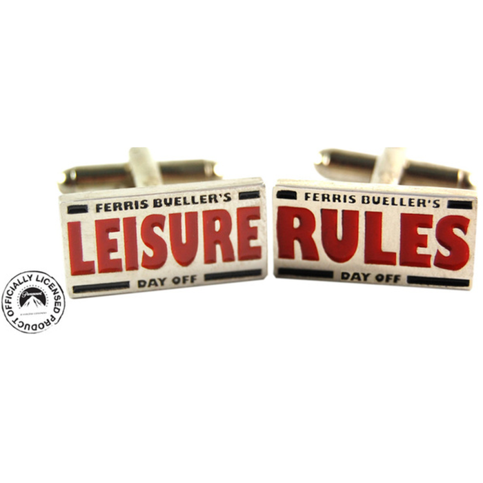 Cufflinks - Ferris Bueller Leisure Rules