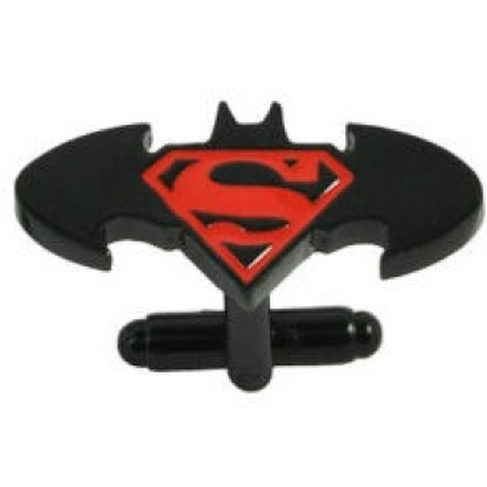 Cufflinks - DC - Batman/Superman Combo Logo Gunmetal