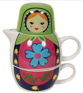 Russian Doll - Tea for One - Teapot & Cup