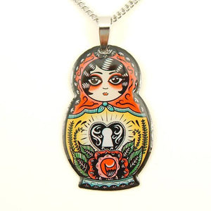 Jubly Umph Necklace - Babushka Heart
