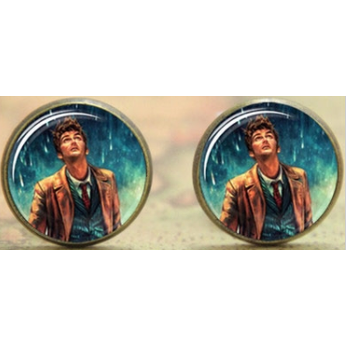 Doctor Who David Tennant Dome Stud Earrings