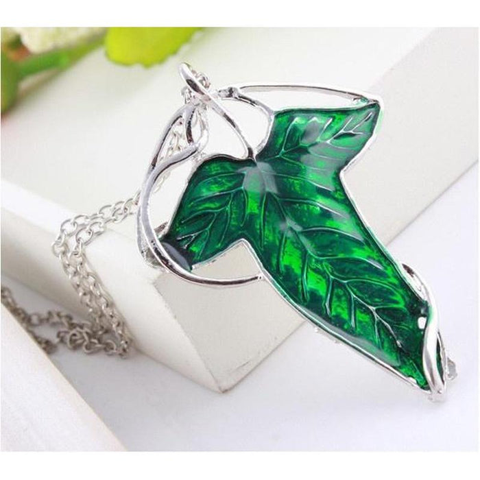 Lord of the Rings Elven Leaf Necklace/Brooch