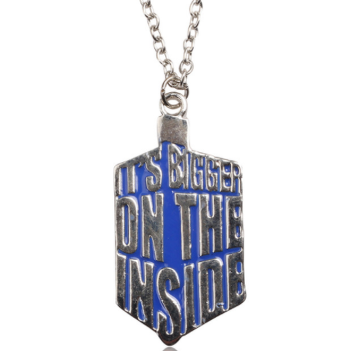 Tardis Bigger on the Inside Enamel Necklace