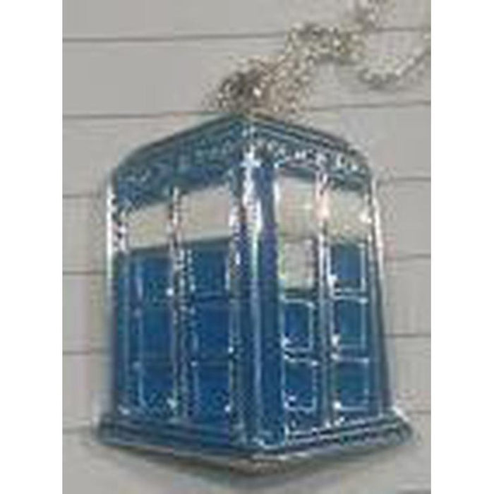 Tardis Blue Enamel Angled Necklace - Doctor Who