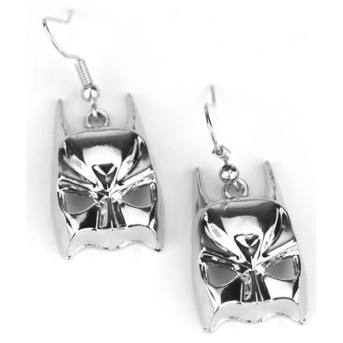 Earrings Batman Silver Head/Mask Hook