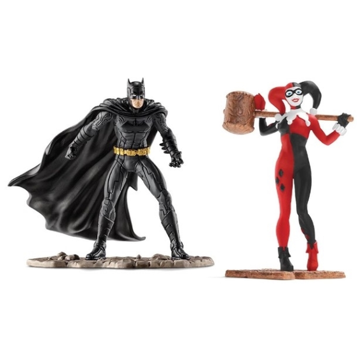 Schleich Batman vs Harley Quinn Action Figure Set