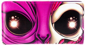 Alien Face Clutch Wallet
